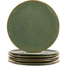 Leonardo Matera Keramikteller 6er-Set 27 cm grün
