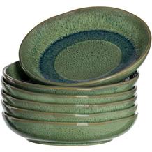 Leonardo Matera Keramikteller Tief 6er-Set 20,7 cm grün