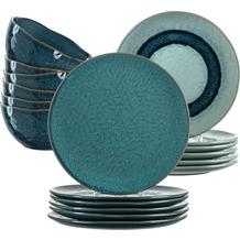 Leonardo Matera Tafelservice für 6 Personen 18-teilig blau