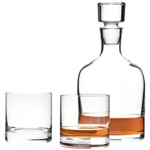 Leonardo 3er Set Whiskykaraffe und Becher Ambrogio