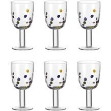 Leonardo Set 6 Rotweinglas Millefiori