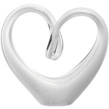 Leonardo Skulptur Herz Emozione 10 cm weiß