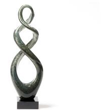 Leonardo Skulptur Turn 39 cm grau/schwarz