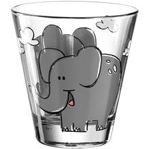 Leonardo Trinkglas BAMBINI 6er-Set 215 ml Elefant grau
