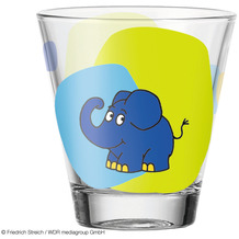 Leonardo Trinkglas BAMBINI 6er-Set 215 ml Elefant mehrfarbig