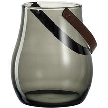 Leonardo Windlicht 22 cm grau mit Henkel Giardino