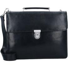 Leonhard Heyden Cambridge Aktentasche Leder 38 cm Laptopfach schwarz