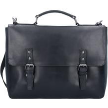 Leonhard Heyden Dakota Aktentasche Leder 40 cm Laptopfach schwarz
