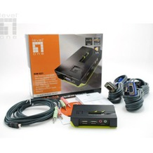 LevelOne 2-Port USB KVM Switch mit Audio - (KVM-0221)