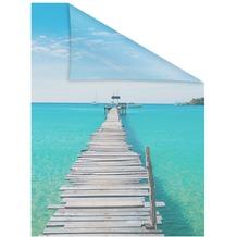 Lichtblick Fensterfolie selbstklebend, Sichtschutz, El Mar - Blau Breite: 100 cm, Länge: 100 cm