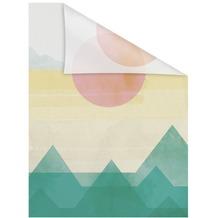 Lichtblick Fensterfolie selbstklebend, Sichtschutz, Horizont - Bunt Breite: 100 cm, Länge: 100 cm