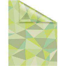 Lichtblick Fensterfolie selbstklebend, Sichtschutz, Pattern Dreiecke - Grün Breite: 100 cm, Länge: 100 cm