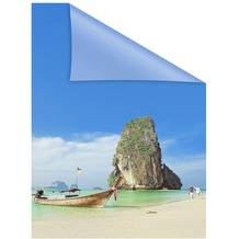 Lichtblick Fensterfolie selbstklebend, Sichtschutz, Thailand - Bunt Breite: 100 cm, Länge: 100 cm