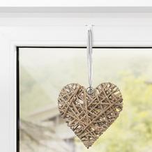 Lichtblick Fensterhaken für Dekoration, Klemmfix, ohne Bohren, 10 Stück  Weiß
