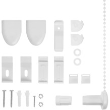 Lichtblick Klemmträger und Zubehör Montage-Set für Klemmfix Duo-Rollo KDR  Weiß