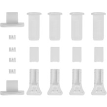Lichtblick Klemmträger und Zubehör Montage-Set für Klemmfix Plissee PKV  Weiß