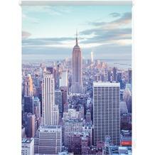 Lichtblick Rollo Klemmfix, ohne Bohren, blickdicht, New York - Blau Breite: 100 cm