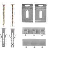 Lichtblick Zubehör-Set für Vorhangschiene, 3-läufig  Aluminium