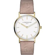 Liebeskind Damenuhr LT-0084-LQ calf mit Lederarmband Damen Uhr Leder Armbanduhr