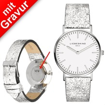 Liebeskind Damenuhr MIT GRAVUR (z.B. Namen) LT-0099-LQ Rindsleder mit Lederarmband Damen Uhr Leder Armbanduhr