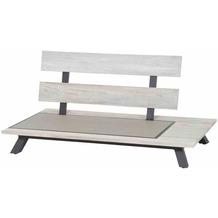 LIFE Nordicx 2-Sitzer links Aluminium-Gestell lava, Applikationen Teak grey
