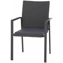 LIFE Sense Sessel lava/carbon Alu / Textil upholstery Gartenstuhl