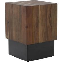 Light & Living Beistelltisch 28x28x40 cm MACUMA holz+schwarz
