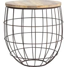 Light & Living Beistelltisch Ø58x61 cm DIVAN Rost-Holz