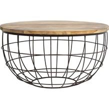 Light & Living Beistelltisch Ø80x42 cm DIVAN Rost-Holz