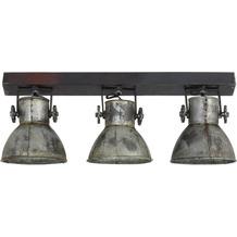 Light & Living Hängeleuchte ELAY Holz braun+vintage Silber