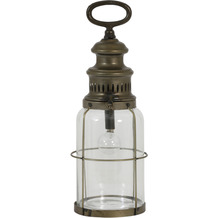 Light & Living Tischleuchte LED Ø12x35 cm ROTI Glas+Kupfer incl Lampe