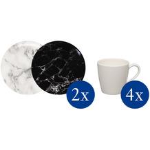 like Marmory Kaffeetassen Set für 4 Personen 8-teilig schwarz,weiß,grau