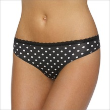 LingaDore Daily String gepunktet black L