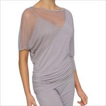 LingaDore ZITA, Lace Top mit seitlicher Raffung, graumöwenfarben M
