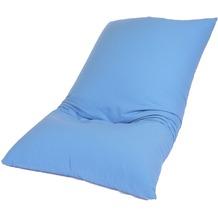 linke licardo Bodenkissen Baumwolle blau 80/130 cm