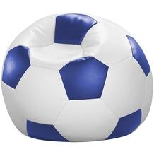 linke licardo Fußball-Sitzsack Kunstleder weiß/blau Ø 80 cm