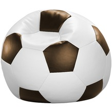 linke licardo Fußball-Sitzsack Kunstleder weiß/schwarz Ø 80 cm