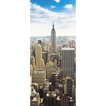 Livingwalls 0200-20 Türtapete Manhattan Blau Grau Weiss
