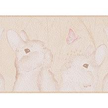 Livingwalls Bordüre Lovely Friends, Bordüre, beige, creme, rosa 303305 5,00 m x 0,13 m