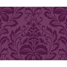 livingwalls flock 3 mustertapete barock vliestapete rot violett 1005 - Tapeten Mit Muster