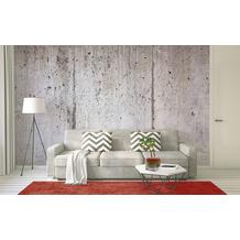 Livingwalls Fototapete Designwalls Betontapete Concrete Wall grau Vliestapete glatt 3,50 m x 2,55 m