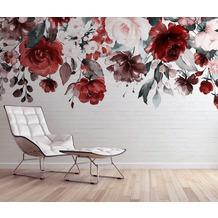 Livingwalls Fototapete Designwalls Mural braun grau rosa rot taupe weiß DD118528 3,50 m x 2,55 m