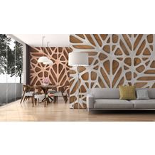 Livingwalls Fototapete Designwalls Organic Surface beige braun weiß DD118714 3,50 m x 2,55 m