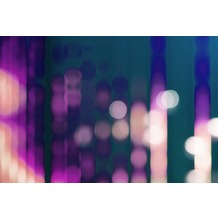 Livingwalls Fototapete Walls by Patel Tapete Big City Lights blau violett Vliestapete glatt 4,00 m x 2,70 m