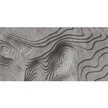 Livingwalls Fototapete Walls by Patel 3D Betontapete Canyon grau schwarz Vliestapete glatt 5,00 m x 2,50 m