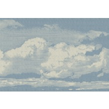 Livingwalls Fototapete Walls by Patel Tapete Clouds beige blau Vliestapete glatt 4,00 m x 2,70 m