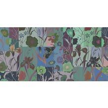 Livingwalls Fototapete Walls by Patel abstrakte Blumentapete Floral Patch blau grün violett Vliestapete glatt 5,00 m x 2,50 m