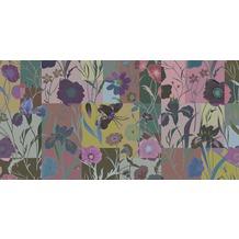 Livingwalls Fototapete Walls by Patel 2 Tapete Floral Patch 3 200 g Vlies Premium gelb grün rosa DD114237 5,00 m x 2,50 m