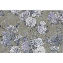 Livingwalls Fototapete Walls by Patel Rosentapete Sleeping Beauty blau taupe violett Vliestapete glatt 4,00 m x 2,70 m