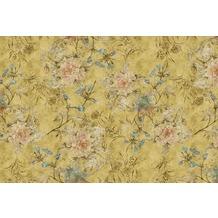 Livingwalls Fototapete Walls by Patel Blumentapete Tender Blossom gelb Vliestapete glatt 4,00 m x 2,70 m
